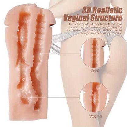 Masturbatore doppio foro (Ano e Vagina)